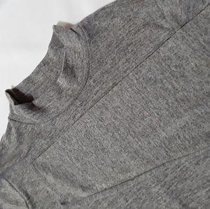 Style & Co Long sleeve Mock Turtleneck Gray hi-low